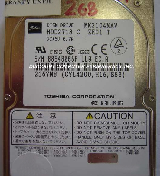 Toshiba MK2104MAV