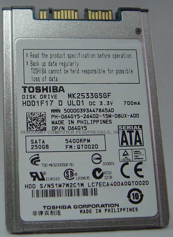 Toshiba MK2533GSGF