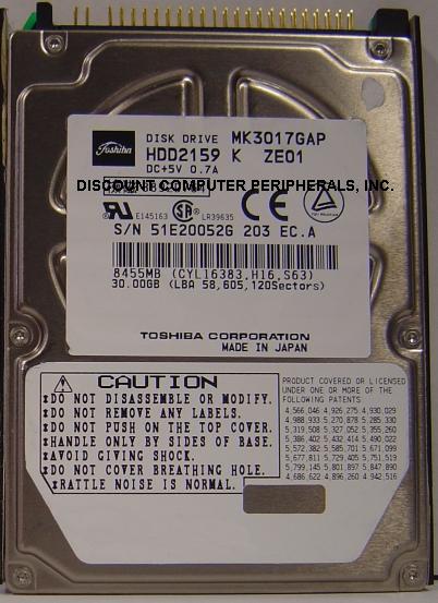 Toshiba MK3017GAP