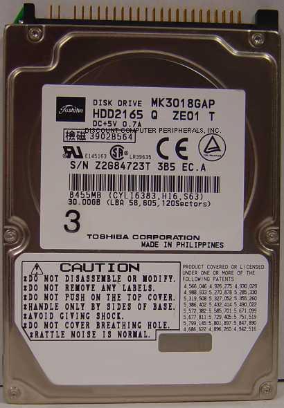 Toshiba MK3018GAP