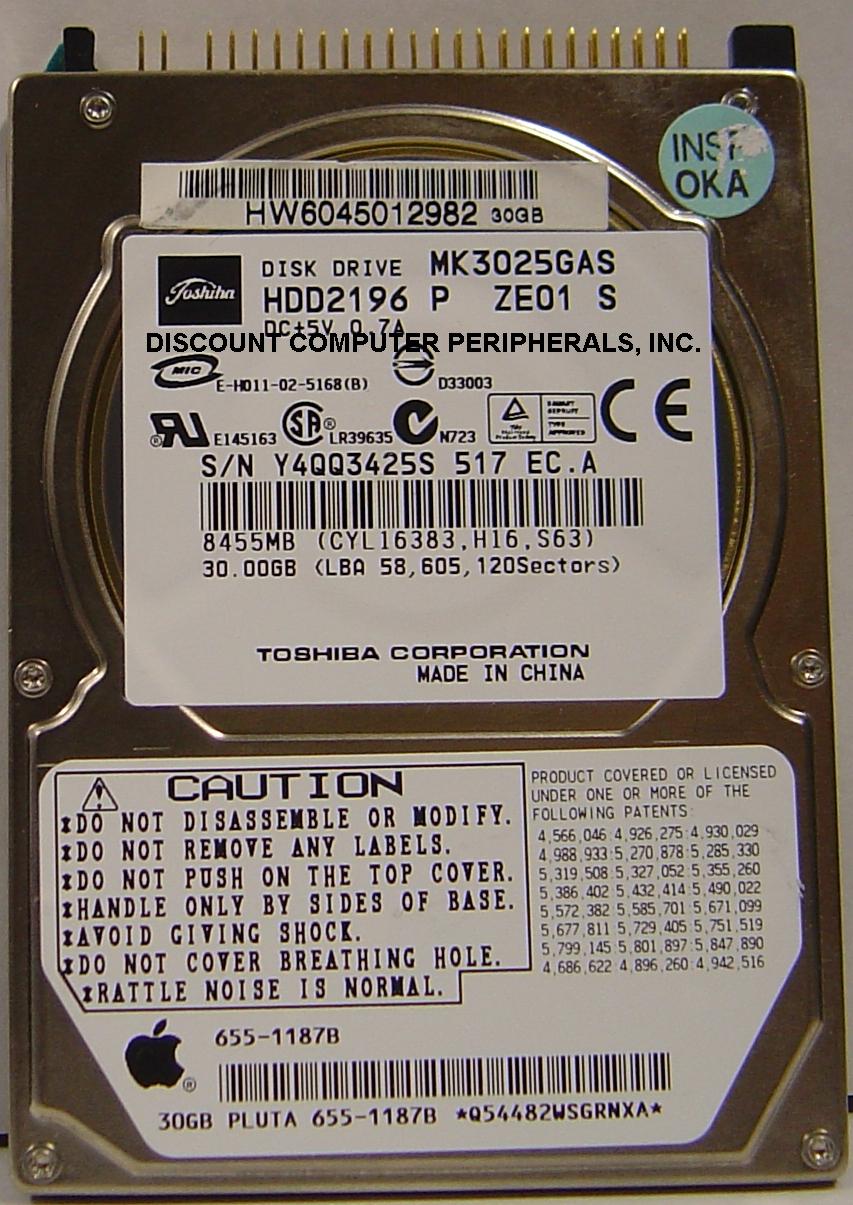 Toshiba MK3025GAS