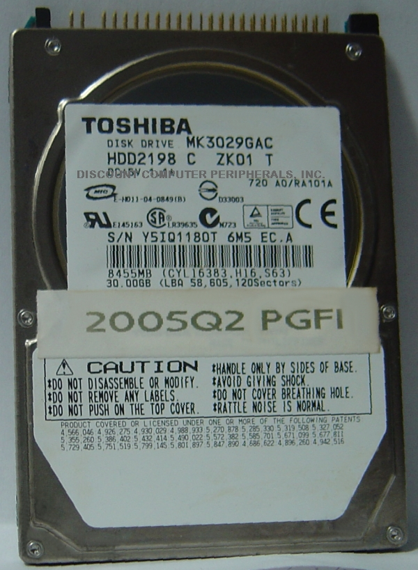 Toshiba MK3029GAC