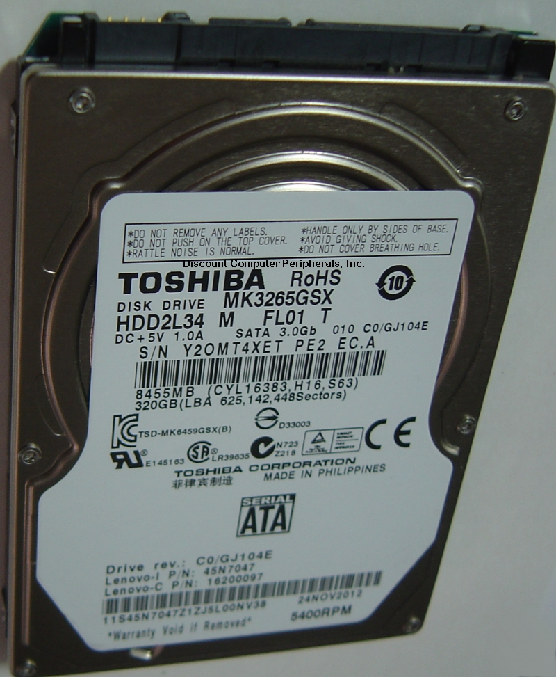Toshiba MK3265GSX
