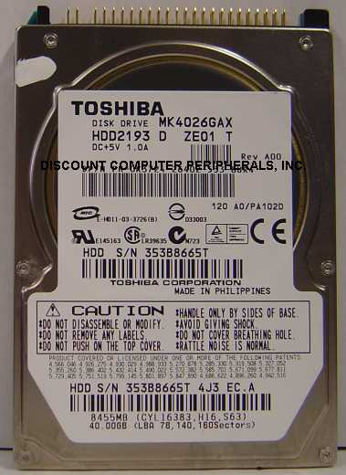 Toshiba MK4026GAX