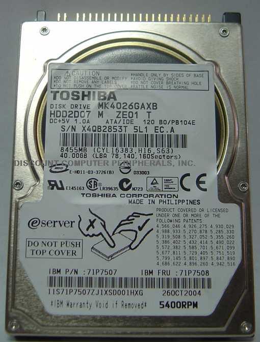 Toshiba MK4026GAXB