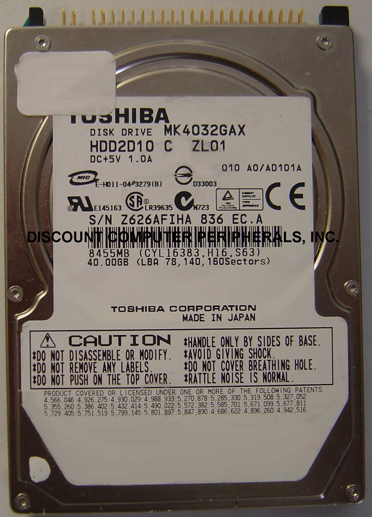 Toshiba MK4032GAX