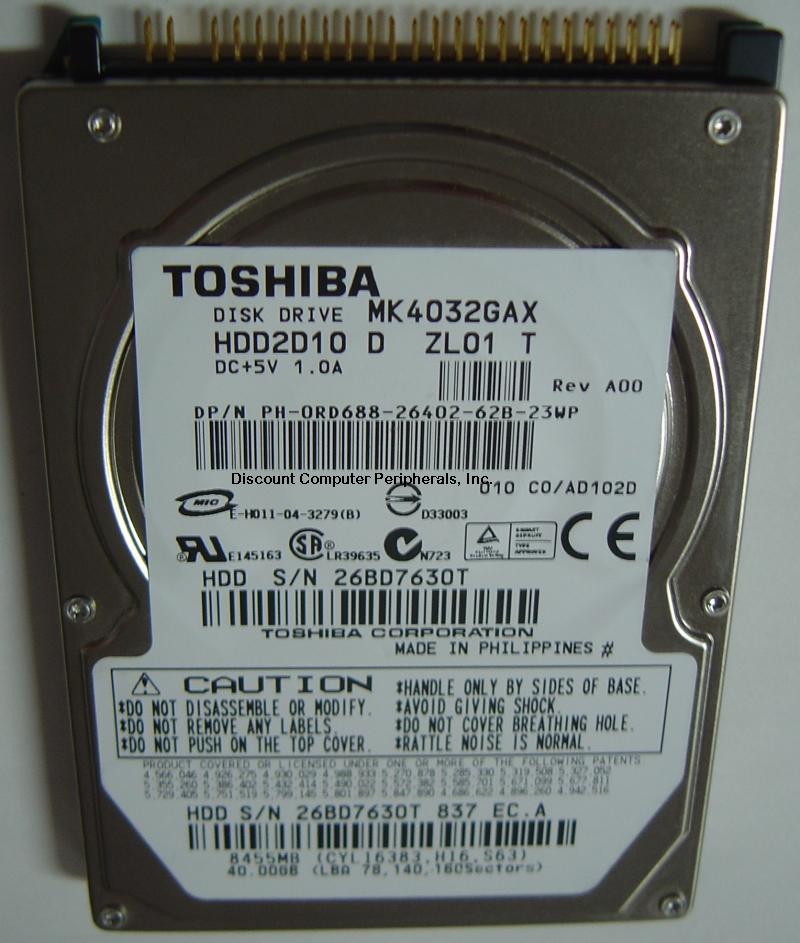 Toshiba MK4032GAX_NEW