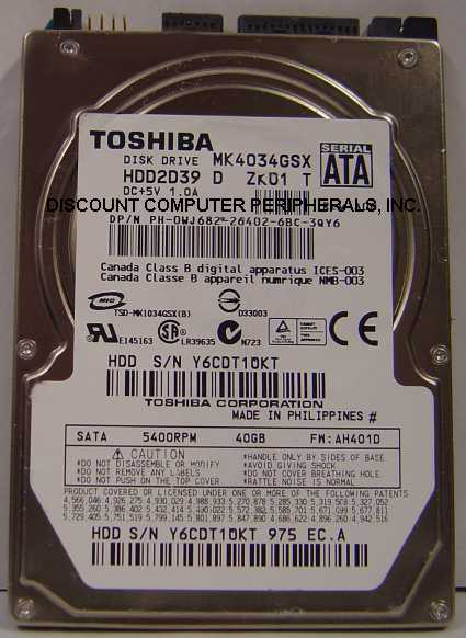 Toshiba MK4034GSX