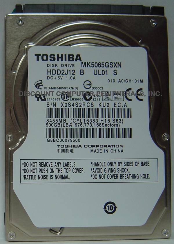 Toshiba MK5065GSXN