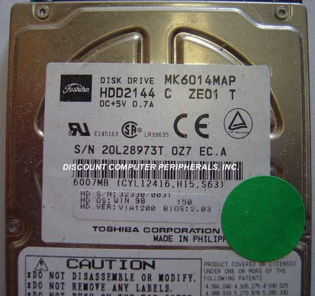 Toshiba MK6014MAP