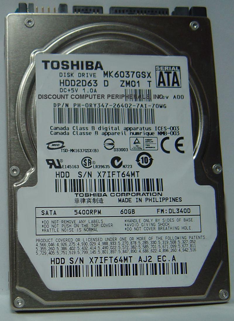 Toshiba MK6037GSX