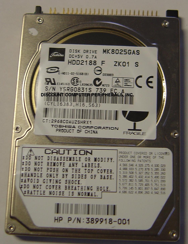 Toshiba MK8025GAS