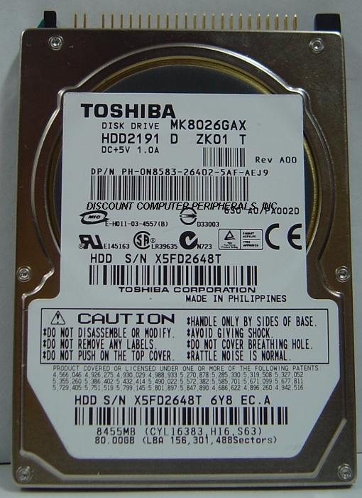 Toshiba MK8026GAX