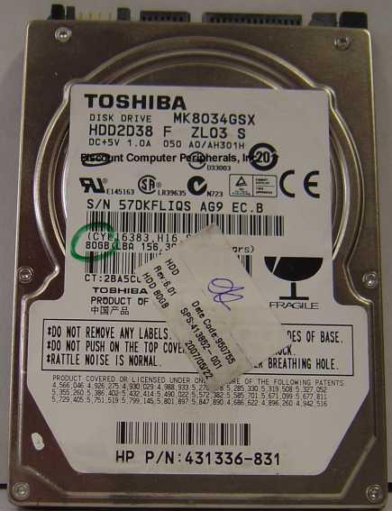 Toshiba MK8034GSX