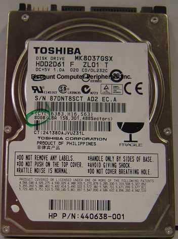 Toshiba MK8037GSX