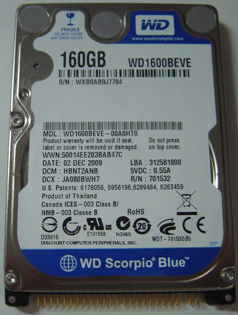 Wd WD1600BEVE_NEW