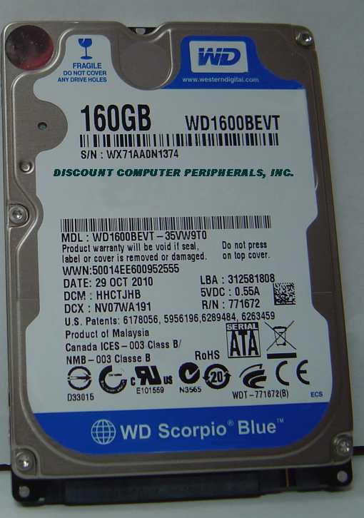 Wd WD1600BEVT