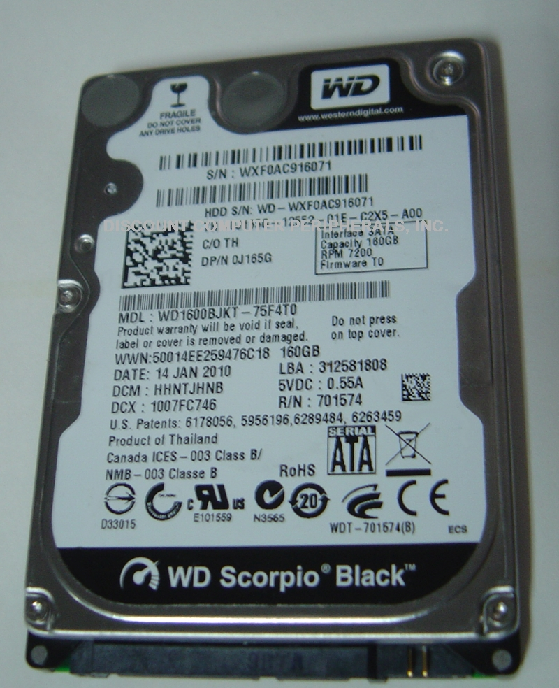 Wd WD1600BJKT