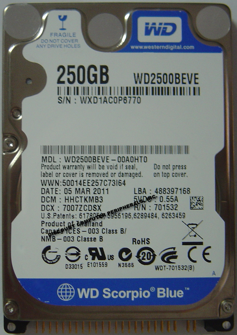 Wd WD2500BEVE_NEW