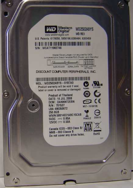 Wd WD2502ABYS