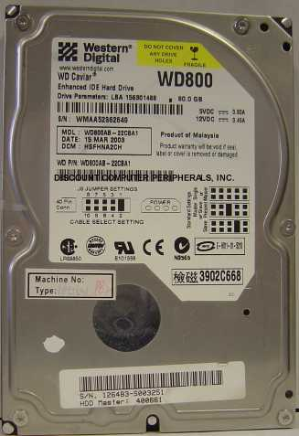 Wd WD800AB