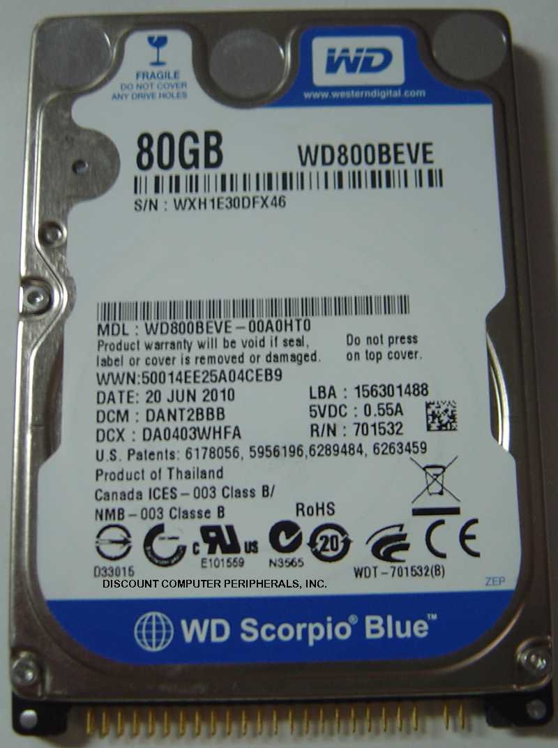 Wd WD800BEVE_NEW
