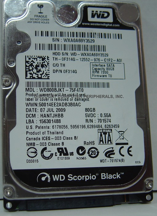 Wd WD800BJKT